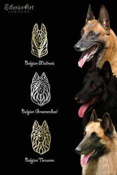Belgian Malinois,  Belgian Tervuren, Belgian Groenendael. jewelry dog design. SiberianArt Jewelry by Amit Eshel.