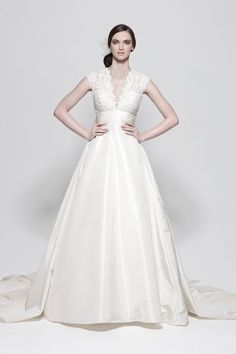 One of my favorite dresses ever- flattering with lace V Neck Wedding Dress 87691c07c0ea
