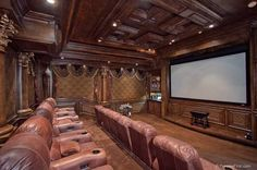 Home theaters grande Grand Roxbury 13 - Luxatic Home Theater Basement, Movie Theater Rooms, Home Theater Setup, Cinema Room, Home Theater Design, Theatre Rooms, Basement Ideas, Basement Bars, Basement Renovations