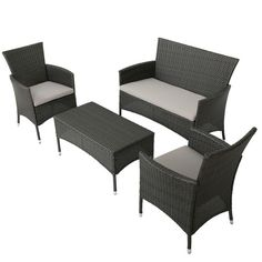 Found it at Wayfair - Laverock 4 Piece Deep Seating Group with Cushions