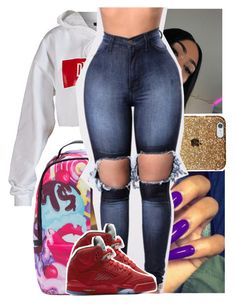 """"""" ::"""" by heeytyy ❤ liked on Polyvore featuring Dimepiece and NIKE"""