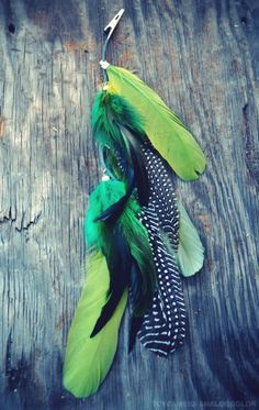 feather hair clip- I might actually wear one like this...