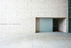 Entrance to modern crematorium at Baumschulenweg cemetery in ...