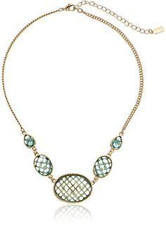 "1928 Jewelry ""Aqua Verde"" Gold-Tone Light Aqua Oval Faceted Collar Necklace, 16"" 1928 Jewelry http://www.amazon.com/dp/B00BHRZCDU/ref=cm_sw_r_pi_dp_Lr9Cvb0N5JP5H"