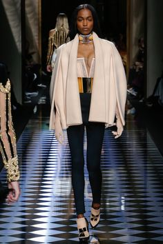 Balmain   Fall/Winter Ready-To-Wear Collection via Designer Olivier Rousteing   Modeled by Genesis Vallejo   March 3, 2016; Paris