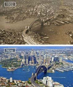 Victoria is the most urbanized and second most occupied in state in the Commonwealth of Australia. Victoria is bounded by Tasmania in the south, South Australia in the west, and New South Wales in the north. Then And Now Pictures, Before And After Pictures, Sydney Ville, Photo Voyage, Sydney City, Tasmania, Australia Travel, South Australia, Aerial View