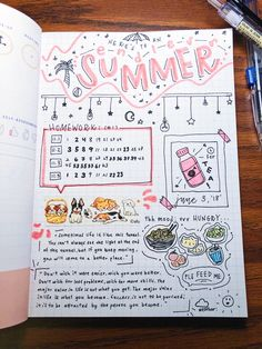obsidianstudy: - here's to an endless summer, may summer sunshine shine on you always! (ps im off hiatus for now! Bullet Journal Paper, Bullet Journal Month, Bullet Journal Lettering Ideas, Bullet Journal Notebook, Bullet Journal Ideas Pages, Bullet Journal Inspiration, Book Journal, Journals, Aesthetic Letters