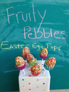 Ramblings of a Handbag Designer: Fruity Pebble Easter Egg Pops
