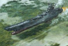 Space Battleship Yamato 2199 / Uchū Senkan Yamato 2199 Illustrations by Kia Asamiya / Michitaka Kikuchi Sci Fi Anime, Mecha Anime, The Stars My Destination, Yamato Battleship, Saga Art, Flying Ship, Star Blazers, Comic Manga, Space Battles