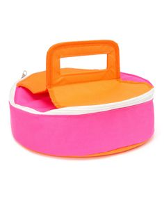 Look at this Pink & Orange Round Insulated Food Carrier on #zulily today!