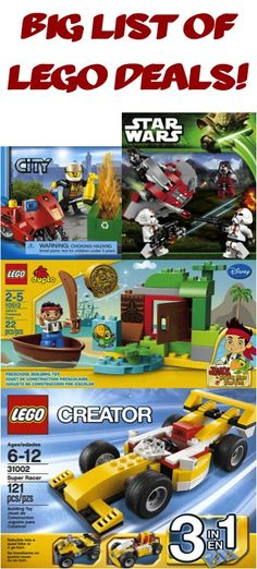 BIG List of LEGO Deals! ~ Stash away some fun gifts! #legos #thefrugalgirls