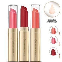 Max Factor Colour Intensifying Balm / Lipsticks 2 g, in 3 x Assorted Shades: Cla.