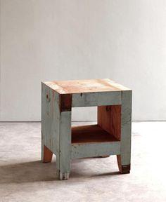Lostine end grain wood side table  usa