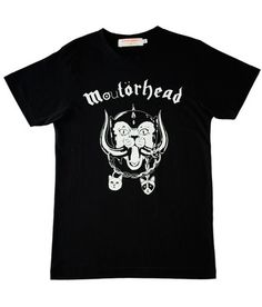 SUPERSWEET | SUPERSWEET x moumi Moutorhead Guy Tee. New to the SUPERSWEET fold, British-based illustrator, Bob London, joins moumi to redesign Motorhead's biker metal album 'Motorhead'. London mutates the iconic War-Pig into a leather clad, tusk-bearing feral War-Pussycat. The London artwork is monochrome silk-screened on jet black club tees, available in both guy and girl cuts.