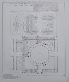 ÜBERSICHTSPLAN Wien Weltausstellung - INDUSTRIEPALAST 2 Drucke Print
