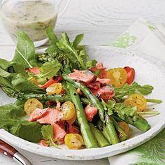 Grilled Salmon-and-Asparagus Salad Recipe | MyRecipes.com