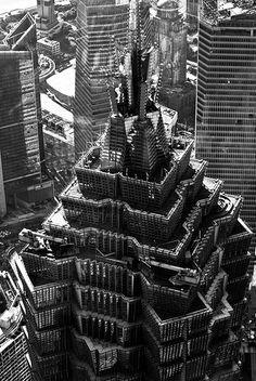 Look down on Jinmao Tower #Shanghai #Pudong