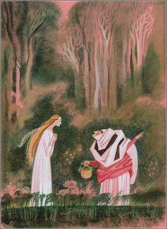 Hans Christian Andersen The Wild Swans - illustration by Nika Goltz