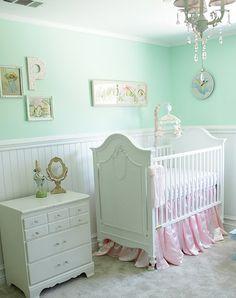 Pretty vintage inspired nursery