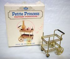 PETITE PRINCESS DOLLHOUSE FURNITURE by IDEAL, ROLLING TEA CART in ORIG. BOX