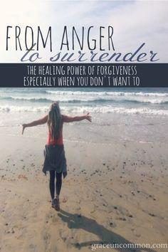 anger to surrender