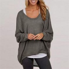 Long Sleeve Pullover Shirt  Price $30.76 AUD Click the link in my bio ---> @soulkreedclothing and grab yours today while stocks last. Sign up to our newsletter and get 15% off all purchases! Collar: O-Neck Material: Acrylic,Polyester,Cotton Style: Casual Fabric Type: Broadcloth Clothing Length: Regular Pattern Type: Solid Sleeve Length: Full Decoration: None Sleeve Style: Batwing Sleeve  #womensfashion #womensstyle #womenstyle #womenswear #womensclothing #womensclothe..