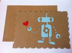 Robot Valentine Card. $4.00, via Etsy.