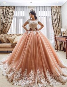 Buy Off the Shoulder Ball Gowns Prom Dresses Lace Appliques Tulle Pink Quinceanera Dresses on sale.Shop prom or formal dresses from Promdress. Find all of the latest styles and brands in Junior's prom and formal dresses at SisaStore Lace Prom Gown, Lace Ball Gowns, Tulle Ball Gown, Ball Gowns Prom, Ball Gown Dresses, Lace Dress, Evening Dresses, Dress Prom, Ruffled Dresses