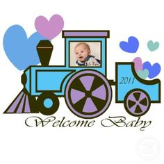 Great Centerpiece - Welcome Baby Choo Choo