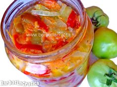 Salata de iarna cu mustar Canning Pickles, Romanian Food, Preserves, Celery, Cucumber, Pantry, Vegetables, Healthy, Sauces