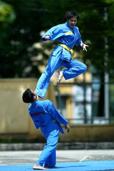 Vovinam is practiced with and without weapons. It is based on the principle of between hard and soft. It includes training of the body as well as the mind. It uses force and reaction of the opponent.   Download nextbelt on App Store and run your dojo on-the-go http://thenextbelt.com/fb.html