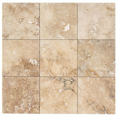 "Travertine Tile - Honed and Filled - Chiaro Rustic Beige / 18""x18""x1/2"" / Honed and Filled / Straight Edge"