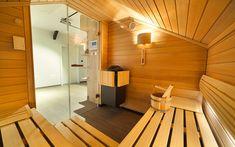 Privátní sauna Klafs s prosklenou vstupní částí Sauna, Halle, Outdoor Decor, Home Decor, Decoration Home, Room Decor, Hall, Home Interior Design, Home Decoration
