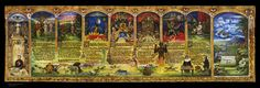 The first public display of The Gold Illuminated Paradise Lost Scroll by Terrance Lindall  On Youtube: http://www.youtube.com/watch?v=PCLUAAfPzUw