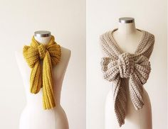 Such a cute way to tie a scarf- I've always wanted to make a bow scarf but never thought of just tying it into a bow! pshh brilliant.