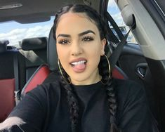 baddie makeup – Hair and beauty tips, tricks and tutorials Sporty Hairstyles, Cool Braid Hairstyles, Baddie Hairstyles, Latina Hairstyles, Baddie Makeup, Hair Makeup, Beauty Make-up, Hair Beauty, Estilo Chola