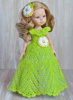 Barbie Knitting Patterns, Knitting Dolls Clothes, Baby Dress Patterns, Crochet Doll Clothes, Knitted Dolls, Doll Clothes Patterns, Newborn Crochet, Crochet Baby, Baby Girl Frock Design