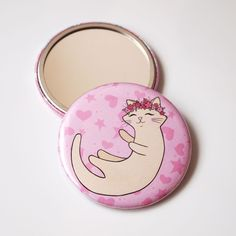Flower Cat Pocket Mirror