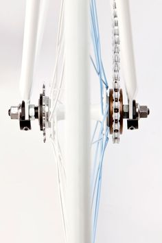 Gear. White & White. Clean. Minimal. Simple. Fresh. Design. Industrial. Chain. Bike. White & Blue. Spokes. New. Inspiration.
