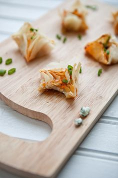 These tiny buffalo chicken dip bites have just the right amount cream cheese, blue cheese, chicken and hot sauce all in a little phyllo pocket and ready to pop in your mouth, fuss free, on Super Bowl Sunday.