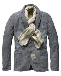 scotch & soda   summer blazer with scarf