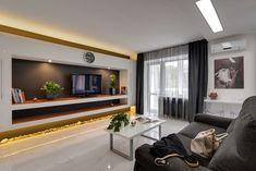 45m2-es, kétszobás lakás letisztult, modern, sallangmentes lakberendezéssel, látványos megoldásokkal