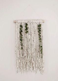 Poppytalk: Yarn and Eucalyptus Wall Hanging: More