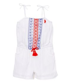 Take a look at this U.S. Polo Assn. White & Red Romper - Girls today!
