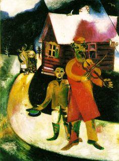 Marc Chagall    Keman Çalan Adam / The Fiddler    1911. Tuval üzerine yağlıboya. 94.5 x 69.5 cm. Kunstsammlung Nordrhein-Westfalen, Düsseldorf.