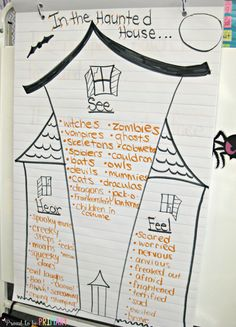 Halloween Writing: In the Haunted House by Proud to be Primary