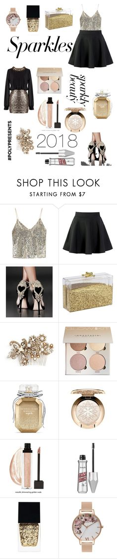 """""""#PolyPresents: Sparkly Beauty"""" by princessraiabear ❤ liked on Polyvore featuring beauty, Alice + Olivia, Erickson Beamon, Victoria's Secret, MAC Cosmetics, Witchery, Olivia Burton, contestentry and polyPresents"""