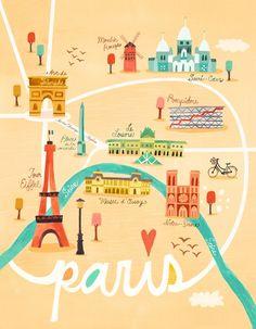 Oopsy Daisy - Map of Paris Canvas Wall Art Irene Chan Paris Map, Paris Theme, Paris Travel, Paris Canvas, Paris Wall Art, Tour Eiffel, Plan Ville, My Little Paris, Paris Girl