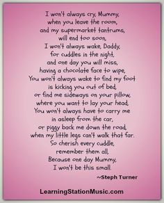 We stumbled upon this very sweet poem found it very moving. We felt if you are a parent your heart would be touched in the same loving way!  #parenting #poem