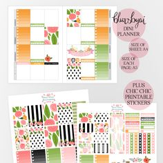 FREE PRINTABLE PLANNER INSERT and how you can use it like I did with the help of some stickers from the hello spring bundle! Planner, planner lover, planner goodies, planner stickers, printable planner, printable stickers, planner addict, planning life, girly things, gift for myself, decor, decorating, printables, printable home decor, floral, wall art, colorful, spring printables, spring planner, hello spring